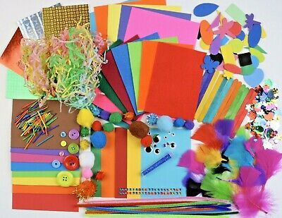 Childrens Art Craft Set Kids Art Craft Materials Foam Felt Pom Sequin Ebay