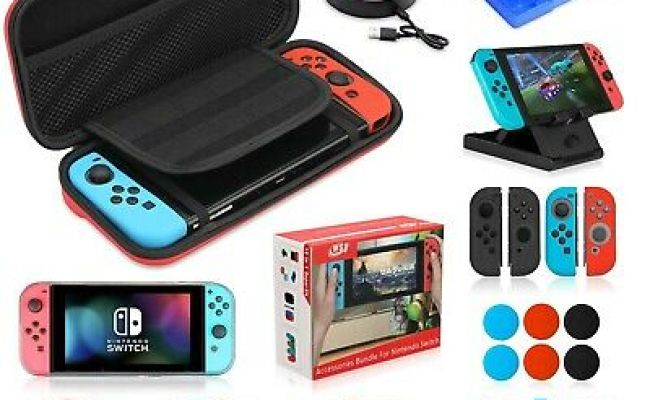 Accessories Kit Bundle For Nintendo Switch 19 In 1