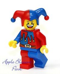 NEW Lego Court JESTER Minifig w/Red & Blue Hat - Castle ...