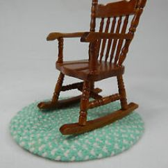 Small Rocking Chairs Office Chair Seat Warmer Dollhouse Miniature 1 12 Scale Grandma S Rocker Image Is Loading 039