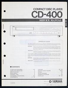Yamaha cd-400 Original Compact Disc/CD PLAYER SERVICE