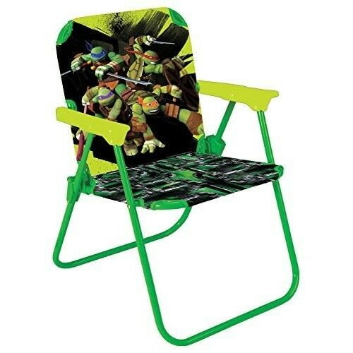 child camping chair cushions kids folding mutant ninja turtles portable comfortable seat ebay