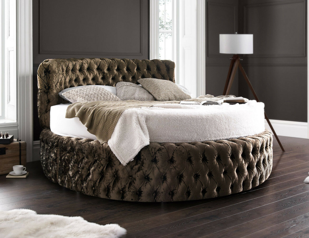 round sofa bed uk fabrics for sofas online glamour chesterfield 7ft with headboard 210cm