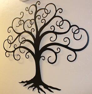 black swirled tree of life tall metal wall art decor by hgmw ebay