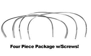 70 71 72 Pontiac GTO Chrome Wheel Well Opening Moldings