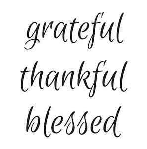 Thanksgiving Fall STENCIL**grateful thankful blessed**for