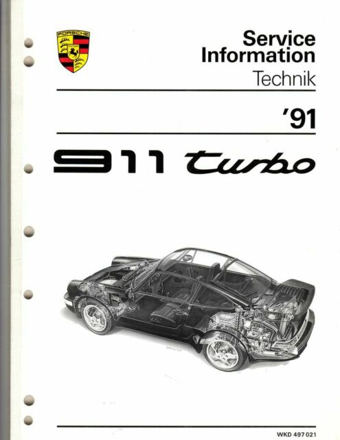 1991 Porsche 911 turbo introductory 134 page service