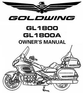 2002 HONDA GOLDWING GL1800 / GL1800A MOTORCYCLE OWNERS