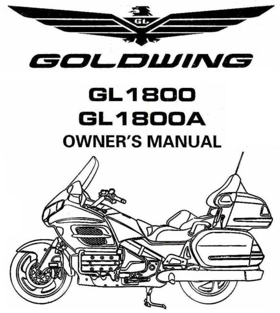 2005 HONDA GOLDWING GL1800 & GL1800A MOTORCYCLE OWNERS
