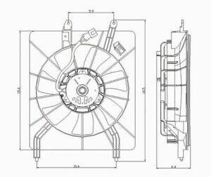 Engine Cooling Fan Blade-Pulley TYC 610940 fits 2004 Acura