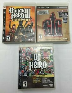 Guitar Hero Ps3 Bundle : guitar, bundle, Bundle, Games-, Hero,, Guitar, Legends, Rock,, Power, SixStri