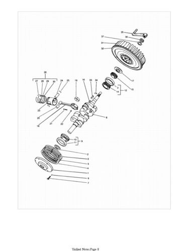 Wisconsin VH4D VH4 Engine illustrated Parts Manual *328