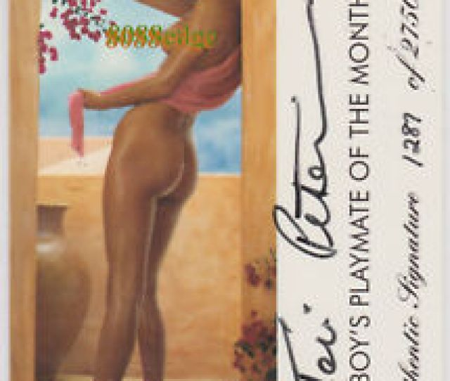 Image Is Loading 1996 Playboy Playmate Authentic Auto Teri Peterson 2750