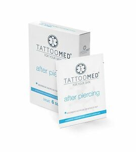 TattooMed after piercing Hygienetuch Piercingpflege Aftercare Pflege 6 St.