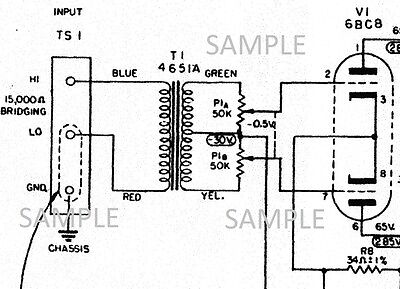 ALTEC 436C Compressor Tube Amplifier Owner Manual w