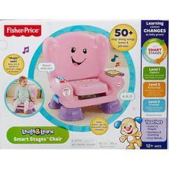 Fisher Price Laugh And Learn Chair Pink Stressless Recliner Smart Stages Brand New Nib Image Is Loading Amp