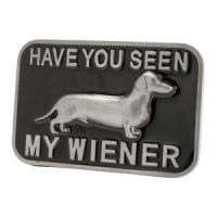 Have You Seen my Wiener? Funny Adult Belt Buckle Dog | eBay