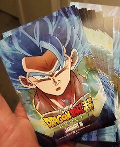 details zu dragon ball super broly gogeta blue 1 postcard mini poster dbz goku vegeta
