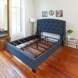 Image Is Loading Full Size Bed Frame Sturdy Metal Mattress Base