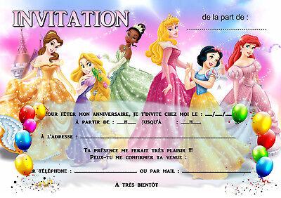 5 12 or 14 birthday invitation cards princess ref 457 ebay
