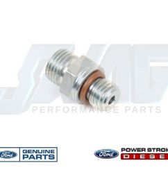 03 10 ford 6 0 6 0l powerstroke diesel fuel filter m12 fitting for supply return [ 1136 x 960 Pixel ]
