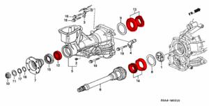 HONDA GENUINE OEM S2000 AP TRANSMISSION GEARBOX BEARINGS
