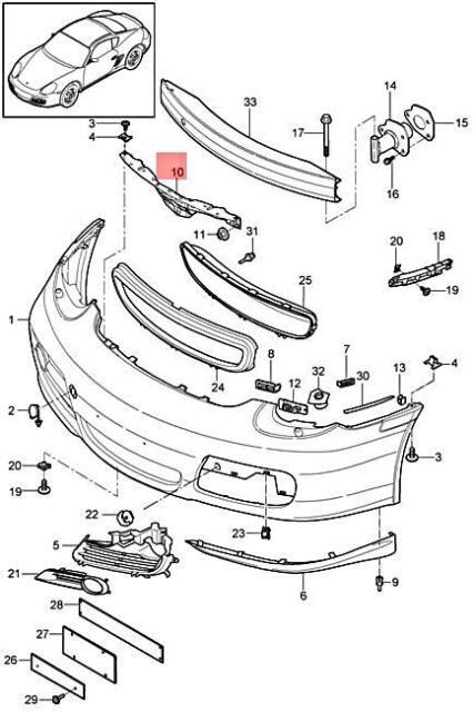 Genuine PORSCHE 911 Turbo 997 Boxster Retaining Strip