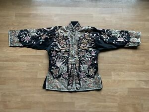 Vintage Antique Silk Chinese Embroidered Jacket