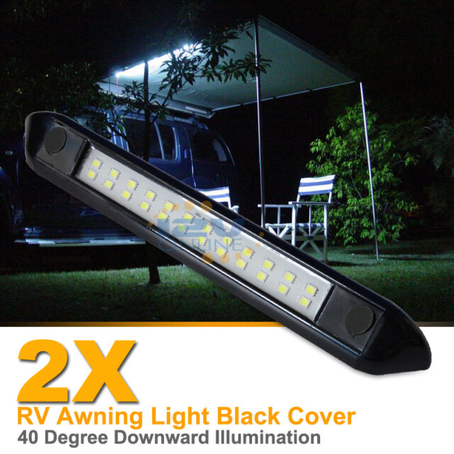 dream lighting 12 volt auto waterproof awning lights cool white rv exterior led