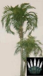 8' Artificial Phoenix x 2 Palm Tree Plant Bush Date Sago Patio Christmas Lights