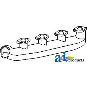 John Deere Parts MANIFOLD EXHAUST T20249 2640 (W/ 4