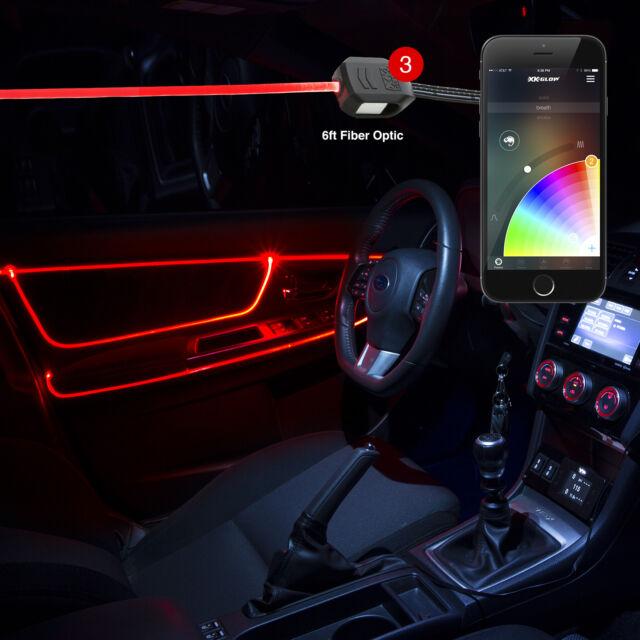 High Power LED Head 6ft Fiber Optic Accent Neon Car