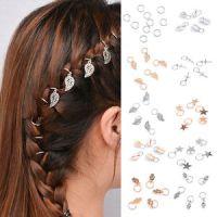 5Pcs Fashion Beaded Hair Rings Hair Jewelry Braids ...
