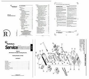 RADIO SHACK PRO-92 PHOTOCOPY OPERATING + SERVICE MANUALS w