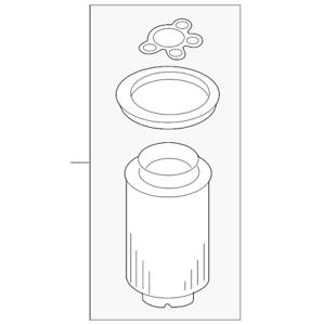 Genuine Volkswagen Fuel Water Separator Filter 1K0-127-434