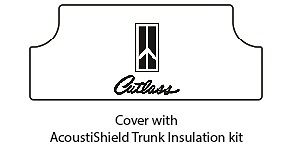 1968 Oldsmobile Trunk Rubber Floor Mat Cover with G-034