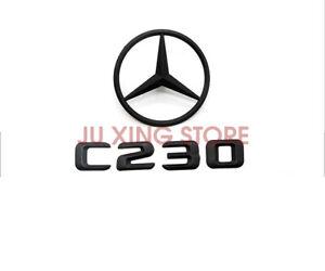 Mercedes Benz Matte Black C230+STAR Rear Star Badge Emblem