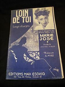 Si Loin De Toi Livre : livre, Partition, Marie, José, Music, Sheet