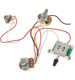 3 pickup guitar wiring harness prewired 1 volume 1 tone 500k pots 5 way switch [ 1200 x 1200 Pixel ]