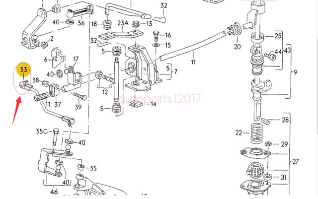 Genuine New Gear Shift Linkage For Golf Jetta 84-92
