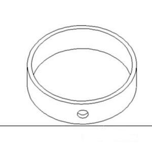 83983319 New Axle Support Rear Bushing Fits Ford Tractor