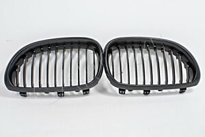 Front Grill Central Grille SET Black Fits BMW 5-Series E60