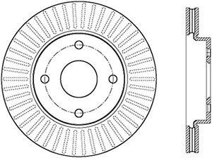 C-TEK Standard Disc Brake Rotor fits 2012-2015 Nissan