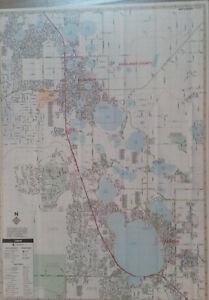 Avon Park Lake Placid Sebring FL Laminated Wall Map (K) | eBay