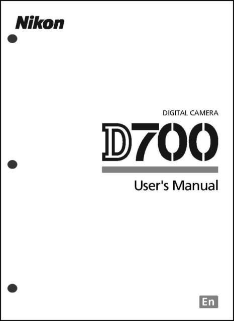 Nikon D700 User Manual Guide Instruction Operator Manual