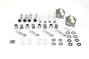 Chrome Pushrod Cover Dress up Kit for Harley EVO FXR Dyna