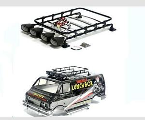 Roof Luggage Rack with Led lights for TAMIYA CC01 PAJERO
