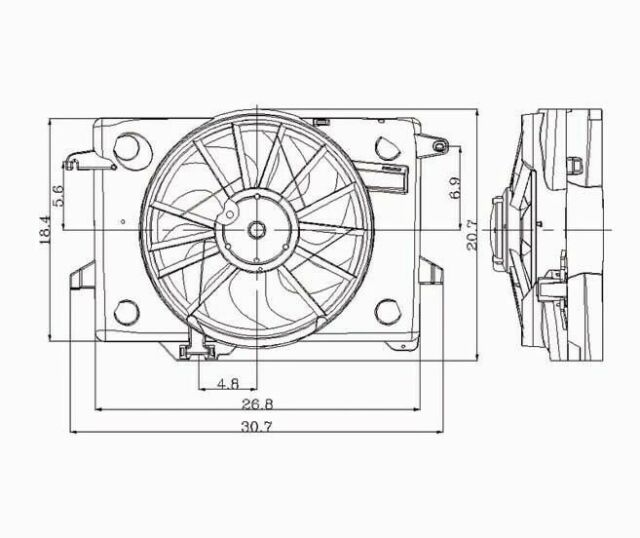 Dual Radiator and Condenser Fan fits 1998-2000 Mercury