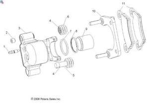 Polaris 2009-2020 Ranger RZR Caliper Brake 1 5 Rh R Met