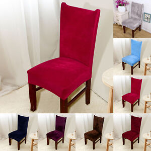 chair covers dining room how to upholster chairs 4 8 removable stretch slipcovers fox pile image is loading